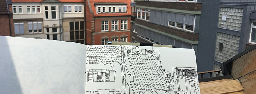 grafikdesign urban sketching